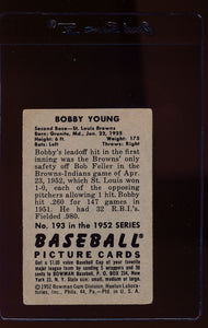 1952 Bowman  193 Bobby Young RC  G 12667