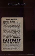 Load image into Gallery viewer, 1952 Bowman  198 Chuck Diering  G 12668