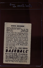 Load image into Gallery viewer, 1952 Bowman  203 Steve Gromek  G 12670