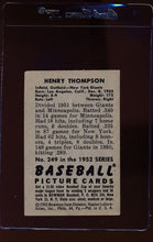 Load image into Gallery viewer, 1952 Bowman  249 Hank Thompson  VG-EX 12685