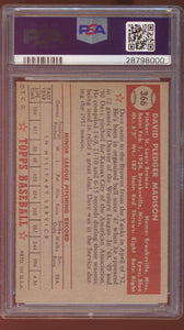 1952 Topps  366 Dave Madison  PSA 8 NM-MT 12948
