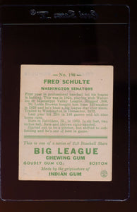 1933 Goudey  190 Fred Schulte  VG 13007
