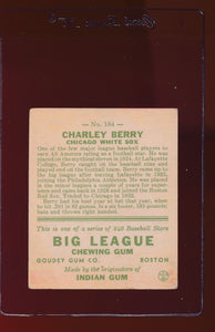 1933 Goudey  184 Charley Berry  VG 13011