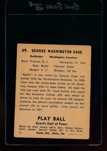 1941 Play Ball  69 George Case  VG-EX 13076