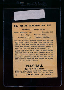 1941 Play Ball  58 Frank Demaree  VG-EX 13082