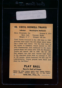 1941 Play Ball  48 Cecil Travis  VG-EX 13087