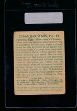 Load image into Gallery viewer, 1935 Diamond Stars  15 Dick Bartell Philadelphia Nationals on back F 13322