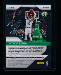 2018-19 Panini Prizm Red Wave 118 Jayson Tatum  NM-MT+ 13404