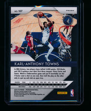Load image into Gallery viewer, 2018-19 Panini Prizm Red Wave 107 Karl-Anthony Towns  NM-MT+ 13405