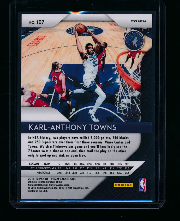 2018-19 Panini Prizm Red Wave 107 Karl-Anthony Towns  NM-MT+ 13405