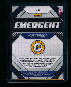 2018-19 Panini Prizm Emergent Green 23 Aaron Holiday RC NM-MT+ 13412