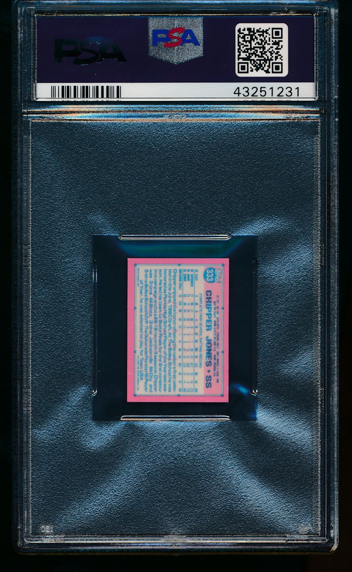 1991 Topps Micro  333 Chipper Jones RC PSA 8 NM-MT 13463