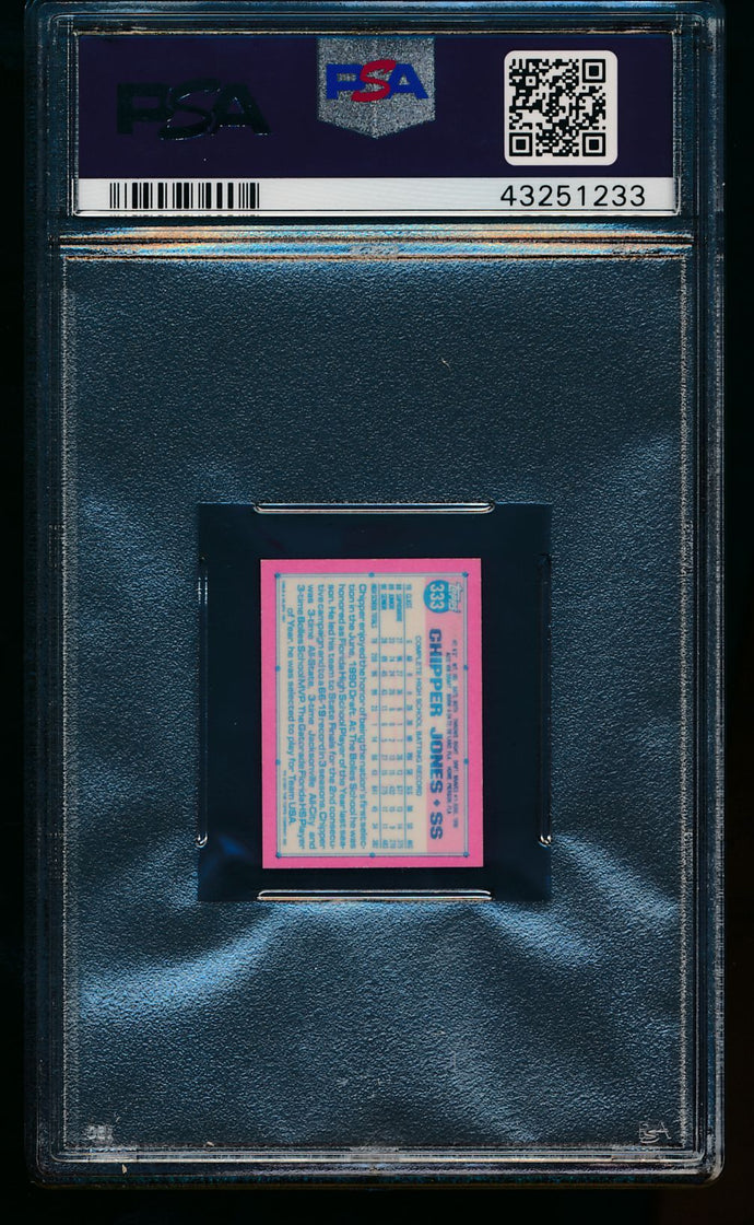 1991 Topps Micro  333 Chipper Jones RC PSA 8 NM-MT 13465
