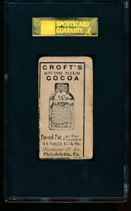 1909 E92 Croft's Cocoa   Johnny Evers HOF SGC Authentic 13502