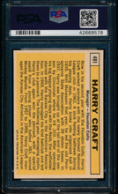 Load image into Gallery viewer, 1963 Topps  491 Harry Craft  PSA 7 NM 13577