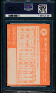 1964 Topps  63 Johnny Orsino  PSA 7 NM 13583