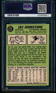 1967 Topps  213 Jay Johnstone  PSA 7 NM 13612