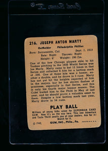 1940 Play Ball  216 Joe Marty RC  G 13677