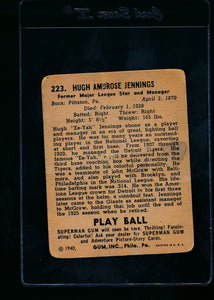 1940 Play Ball  223 Hughie Jennings  P 13684