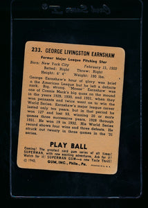 1940 Play Ball  233 George Earnshaw  VG 13687