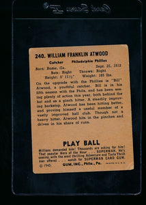 1940 Play Ball  240 Bill Atwood RC  G 13690