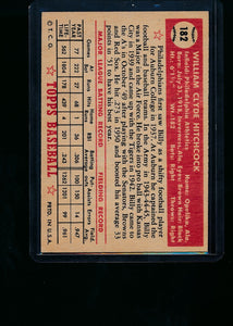 1952 Topps  182 Billy Hitchcock  VG-EX 13700