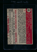 Load image into Gallery viewer, 1952 Topps  381 Milton Stock CO RC High # P (trimmed) 13721