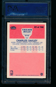 1986 Fleer  81 Charles Oakley  PSA 7.5 NM+ 13760