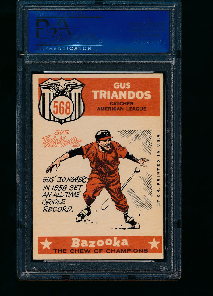 1960 Topps  568 Gus Triandos All Star  PSA 6 EX-MT 13777