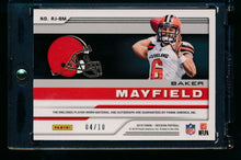 Load image into Gallery viewer, 2018 Obsidian RPA /10  Baker Mayfield RC Auto 2 CL patch  14095