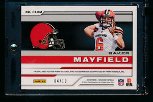 2018 Obsidian RPA /10  Baker Mayfield RC Auto 2 CL patch  14095