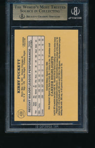 1985 Donruss  438 Kirby Puckett HOF RC BGS 9.5 GEM MINT 14375