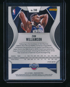 2019-20 Panini Prizm Fanatics Green Ice 248 ZION WILLIAMSON  NM-MT+ 14377