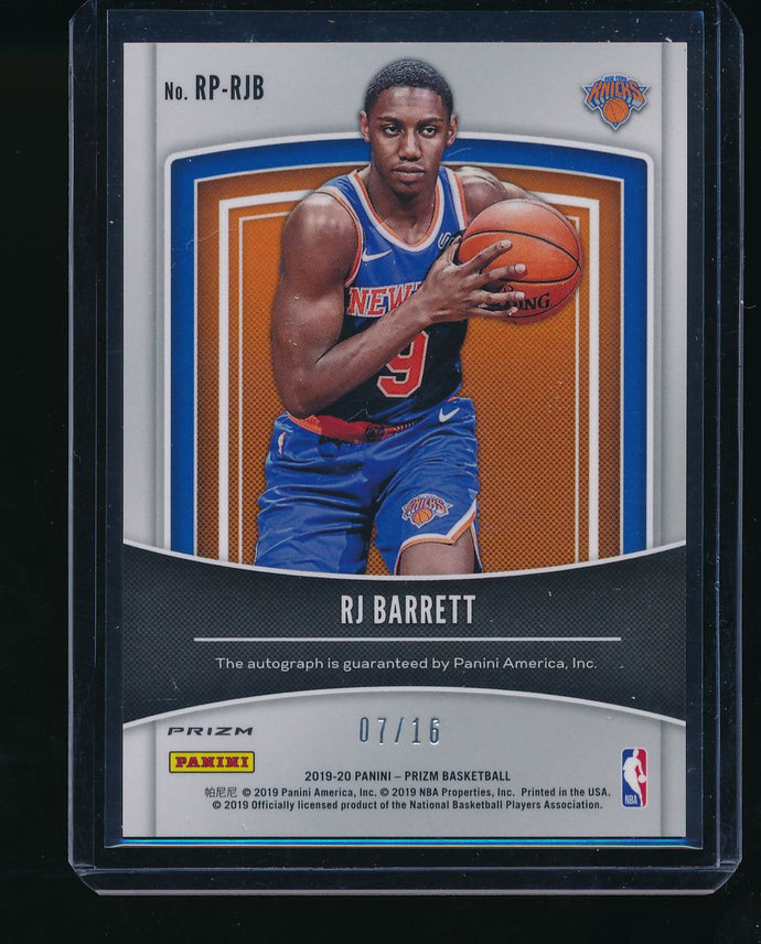 2019-20 Panini Prizm Fanatics Green Ice Auto  RJ BARRETT /16 RC Pack-Fresh 14384