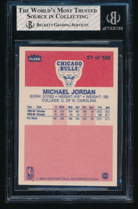1986-87 Fleer  57 MICHAEL JORDAN HOF RC BGS 8 NM-MT 14463