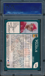 2001 Topps Chrome Late Addition 596 ALBERT PUJOLS RC PSA 9 MINT 14485