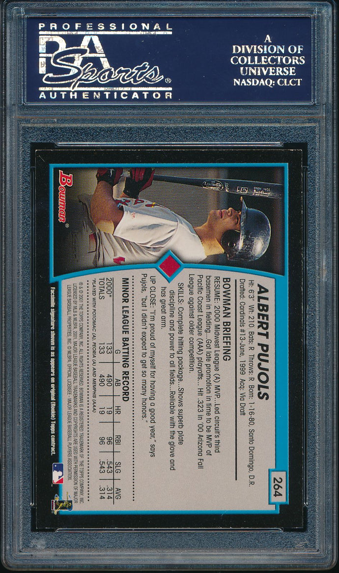 2001 Bowman  264 ALBERT PUJOLS RC PSA 9 MINT 14486