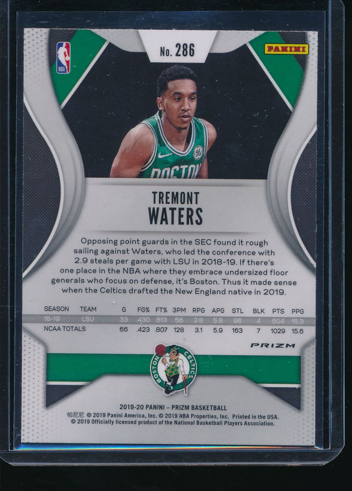 2019-20 Prizm Green Ice TREMONT WATERS SSP RC Fanatics Exclusive  14493