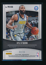 Load image into Gallery viewer, 2019-20 Panini Prizm Green Ice Penmanship  Kyle O'Quinn Auto /16  14496