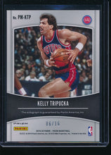 Load image into Gallery viewer, 2019-20 Panini Prizm Green Ice Penmanship  Kelly Tripucka Auto /16  14498