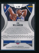 Load image into Gallery viewer, 2019-20 Panini Prizm Base 248 ZION WILLIAMSON RC CENTERED  14512