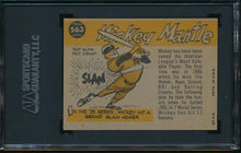 Load image into Gallery viewer, 1960 Topps  563 MICKEY MANTLE HOF High # SGC 6 14546