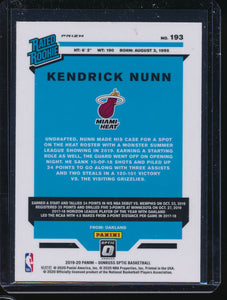 2019-20 Donruss Optic Purple Prizm  Kendrick Nunn RC Pack-Fresh 14549
