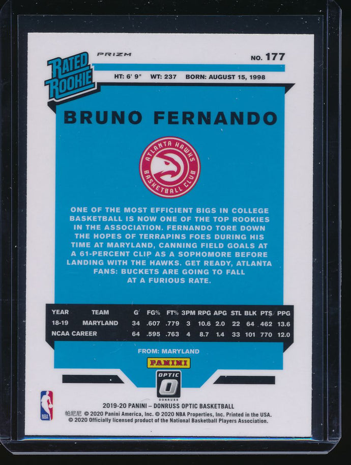 2019-20 Donruss Optic Holo  Bruno Fernando RC Pack-Fresh 14558