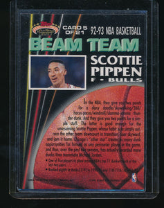 1992-93 Topps Stadium Club Beam Team 5 Scottie Pippen   14631
