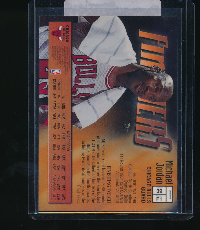 1997-98 Topps Finest Finishers  Michael Jordan   14637