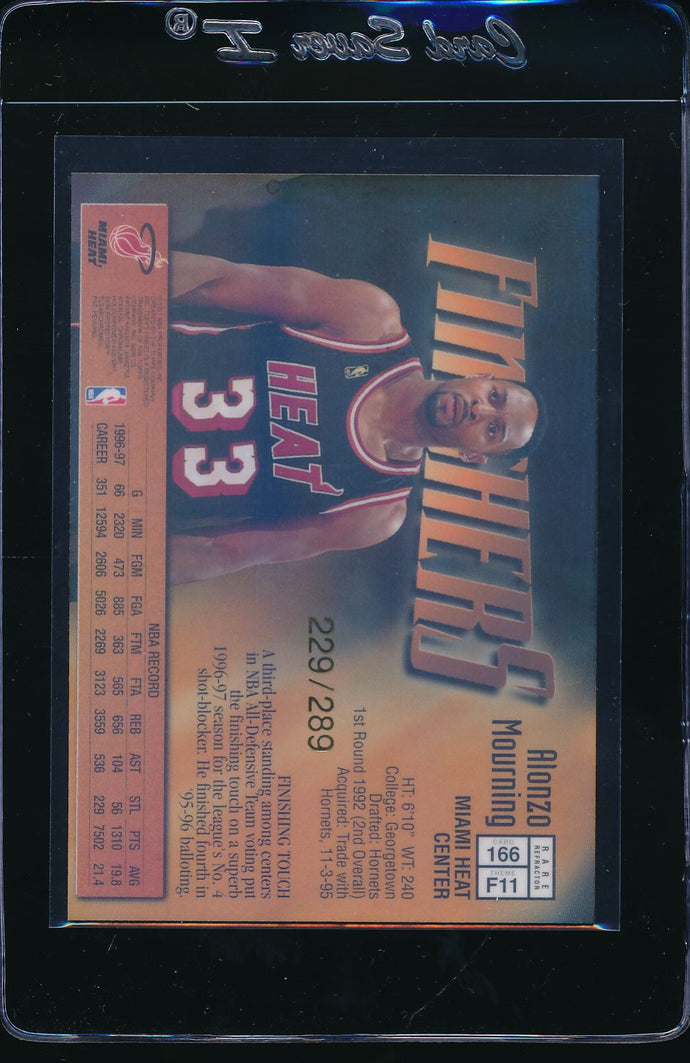 1997-98 Topps Finest Gold Refractors /289  Alonzo Mourning   14690
