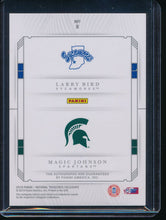 Load image into Gallery viewer, 2019-20 National Treasures Collegiate Magic Johnson Larry Bird Auto /10  14693