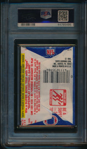 1984 Topps Football  Wax Pack  PSA 8 NM-MT 14710