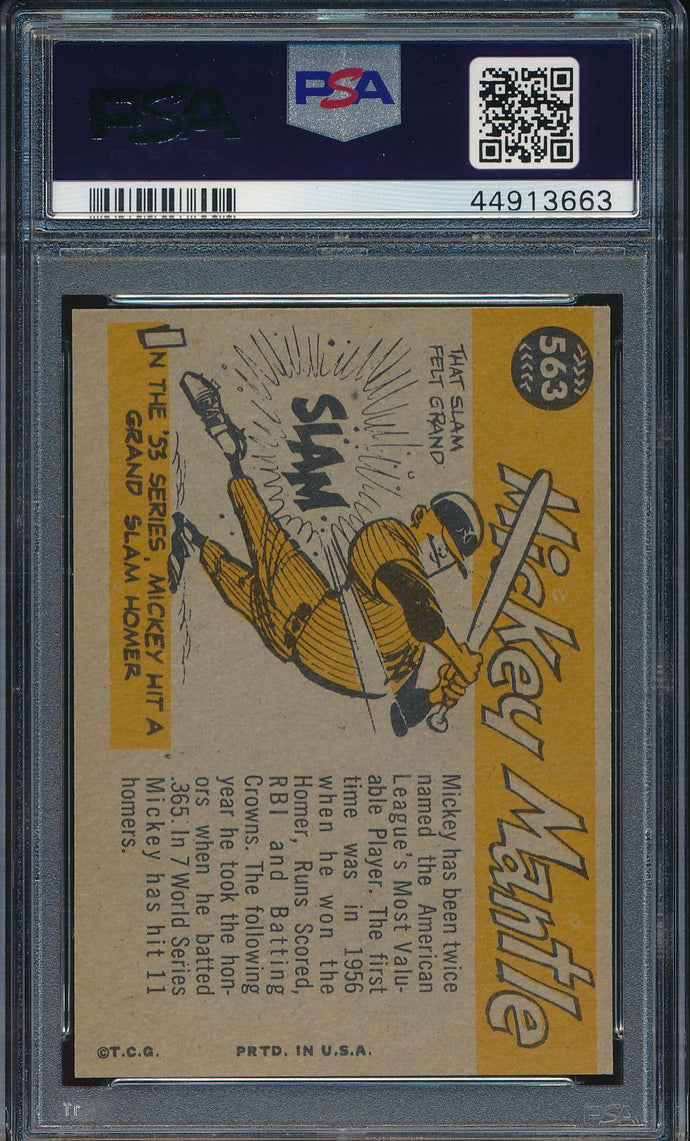 1960 Topps All Star 563 MICKEY MANTLE  PSA 7 NM 14731